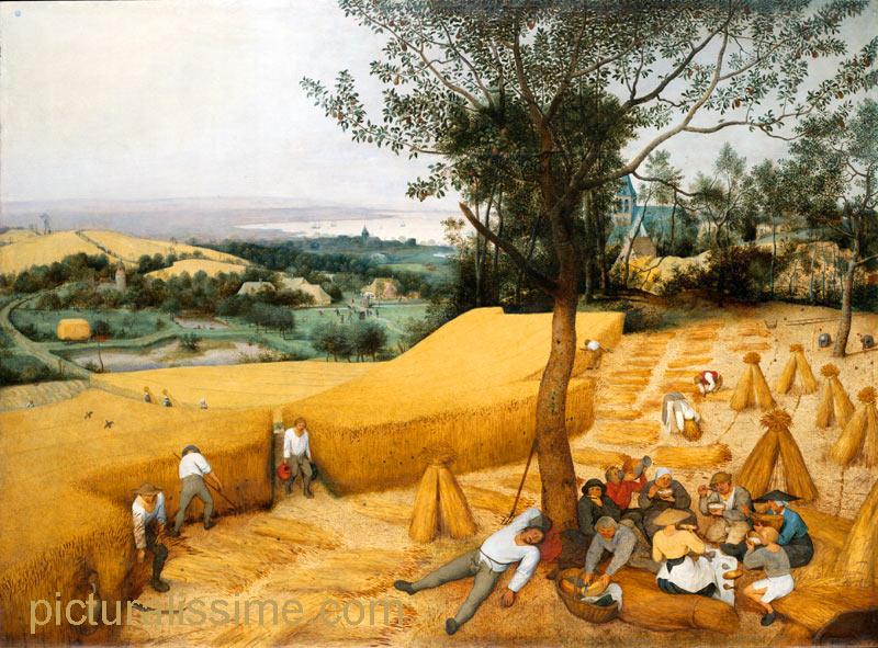Pieter bruegel la moisson - Tableau de maitre reproduction ...