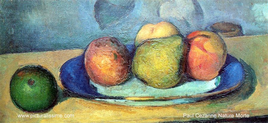 Paul Cézanne Nature morte Fruits Reproduction de Tableaux Copie ...