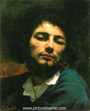 Gustave Courbet Autoportrait l'Homme à la pipe