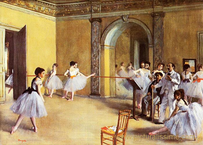 Degas foyer de la danse l 39 op ra rue pelletier - Tableau de maitre reproduction ...