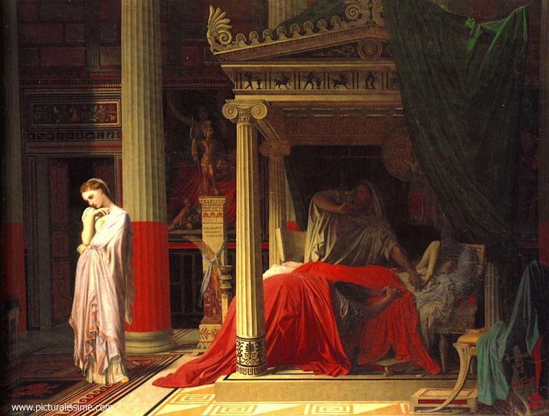 Ingres antiochus et stratonice - Tableau de maitre reproduction ...