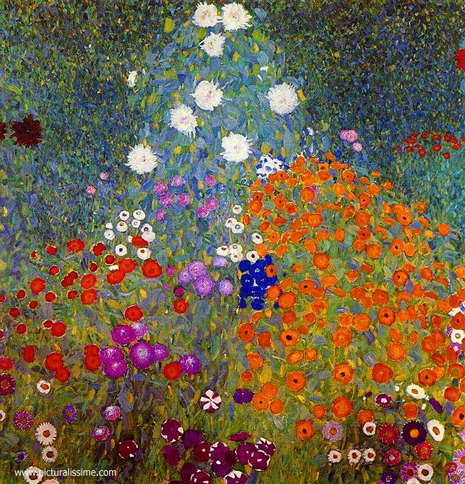 Gustav klimt jardin en fleur for Catalogue fleurs de jardin