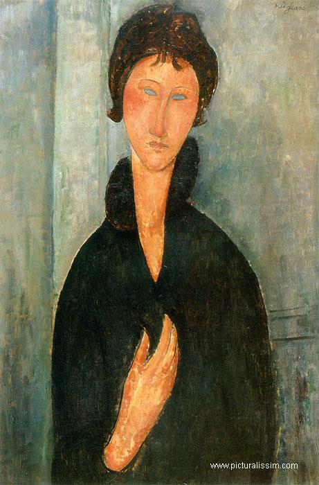 """Femme aux yeux Bleus"" Amedeo Modigliani (~1918) Modigliani_femmes_yeux_bleus_l"