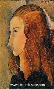 JEANNE HEBUTERNE (1898-1920) , Femme au collier, modèle de