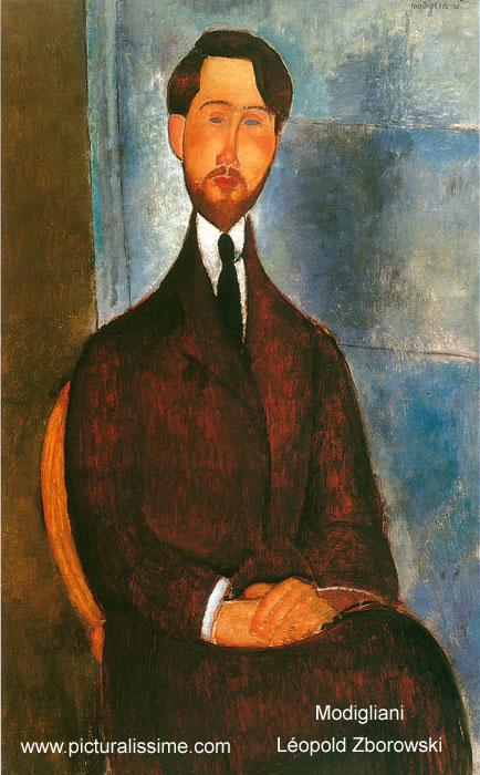 Modigliani l opold zborowski - Tableau de maitre reproduction ...