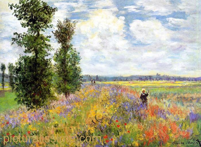 Monet Champ de coquelicots Argenteuil