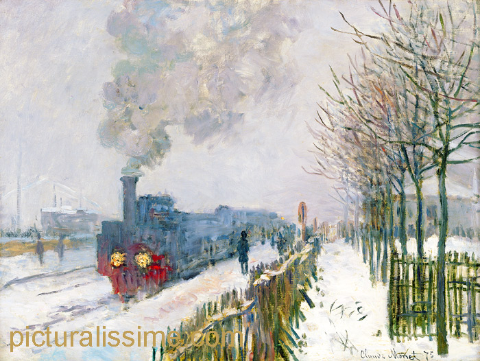 claude monet train dans la neige. Black Bedroom Furniture Sets. Home Design Ideas