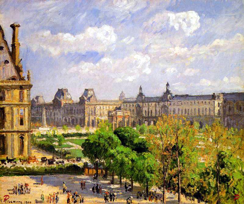Camille pissarro place du carrousel jardin des tuileries paris - Sculpture jardin des tuileries ...