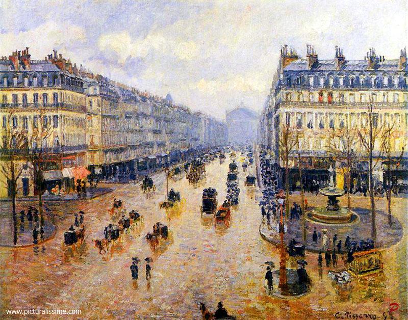 Camille Pissarro  Avenue de l'Opéra effet de pluie