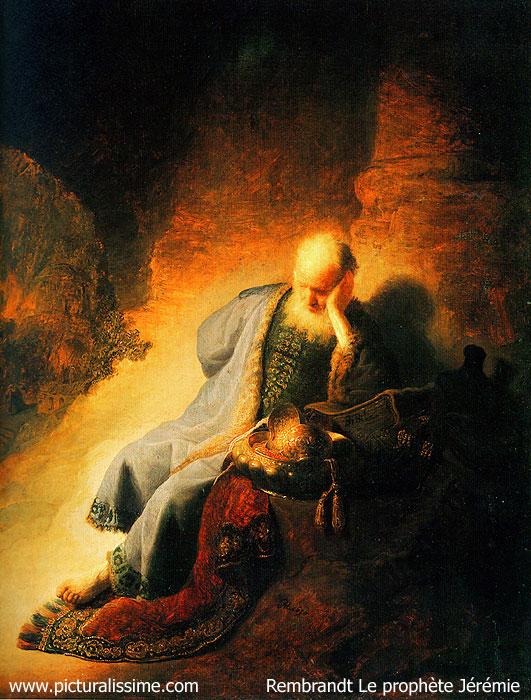 Rembrandt Le Prophète  Jérémie