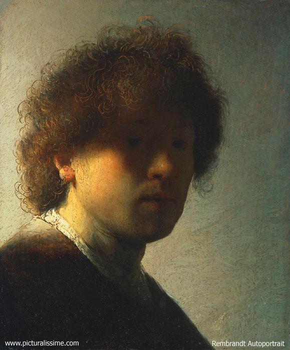 Rembrandt autoportrait 2 - Tableau de maitre reproduction ...