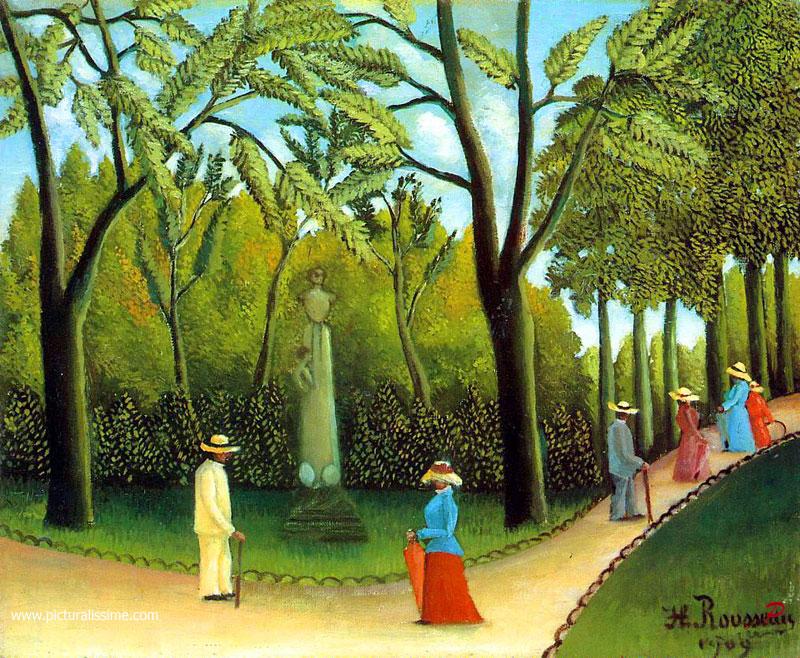 Henri rousseau jardin du luxembourg reproduction de tableaux copie