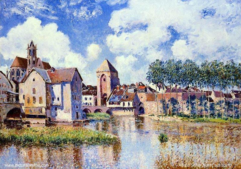Moret sur Loing peint par Alfred Sisley