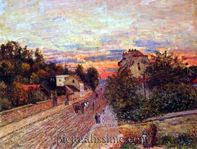 Alfred sisley soleil port marly - Point p port marly ...
