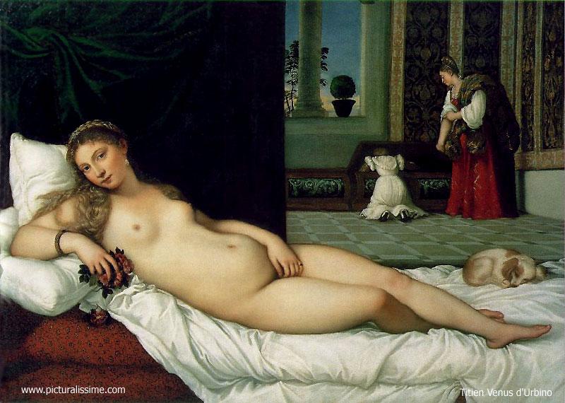 'Titien Titian la Venus d'Urbino' from the web at 'http://www.picturalissime.com/g/../t/titien_titian_venus_urbino_l.jpg'