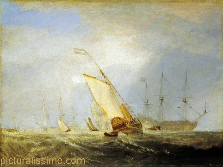 William turner van tromp de retour de bataille - Tableau de maitre reproduction ...