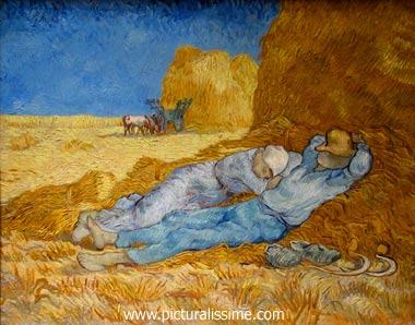 Van gogh la sieste ou la m ridienne picturalissime - Analyse du tableau la chambre de van gogh ...