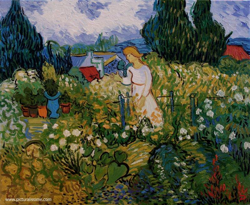 Van gogh marguerite gachet dans le jardin for Jardin a auvers van gogh