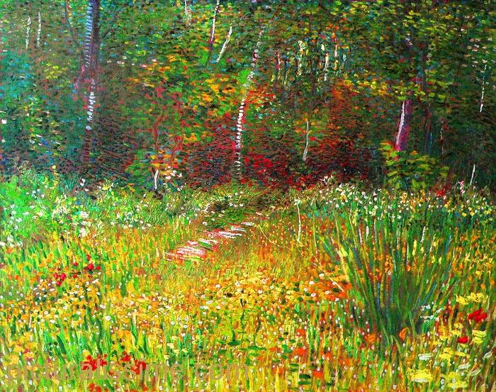 Vincent Van Gogh Parc A Asnieres Au Printemps Picturalissime