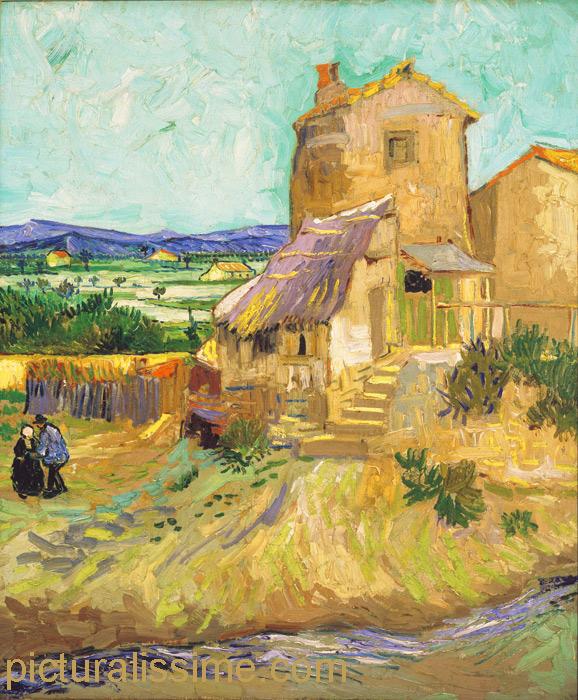 Van gogh le vieux moulin - Tableau de maitre reproduction ...
